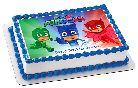 PJ MASKS 3 Edible Birthday Cake Topper