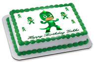 PJ Masks Gekko Edible Birthday Cake Topper OR Cupcake Topper, Decor