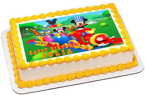 Mickey Mouse Clubhouse Edible Cake Images : Mickey Mouse Clubhouse Train Edible Birthday Cake Topper