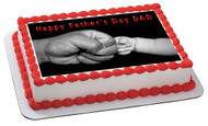 Father's Day 2 Edible Birthday Cake Topper OR Cupcake Topper, Decor