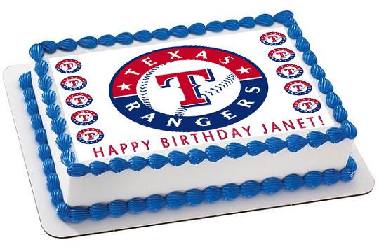 Texas Rangers Cake Topper