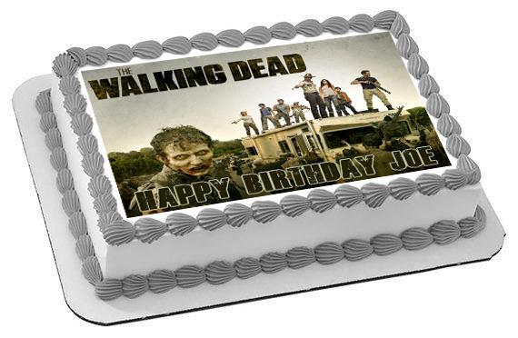 the walking dead 3 edible birthday cake topper