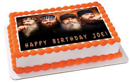 Duck Dynasty Edible Birthday Cake Topper OR Cupcake Topper, Decor