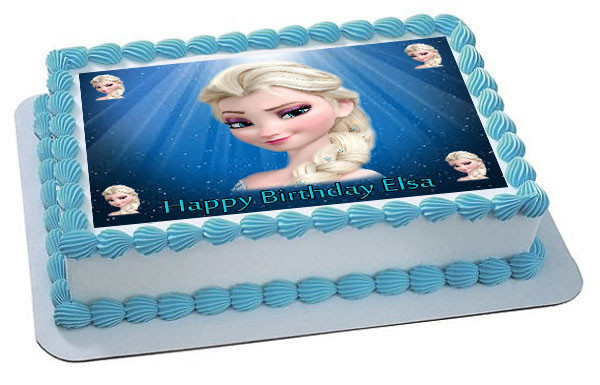 Edible Cake Images Elsa : Frozen Elsa Face Edible Edible Birthday Cake Topper