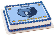 Memphis Grizzlies Edible  Edible Birthday Cake Topper OR Cupcake Topper, Decor
