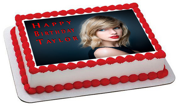 Taylor Swift Edible Edible Birthday Cake Topper