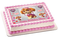 PAW PATROL SKYE 4 Edible Birthday Cake Topper OR Cupcake Topper, Decor