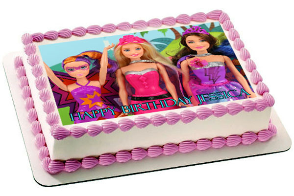 Edible Cake Images Barbie : Barbie Princess Power Edible Birthday Cake Topper