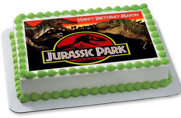 Jurassic World Edible Cake Topper