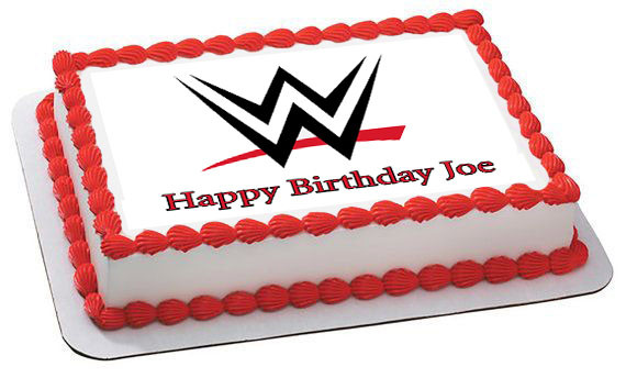 Wwe Edible Birthday Cake Topper