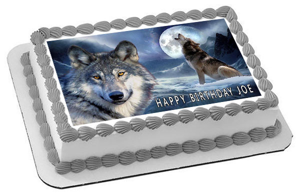 wolf 2 edible birthday cake topper