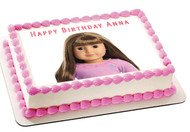 AMERICAN GIRL 3 Edible Birthday Cake Topper OR Cupcake Topper, Decor