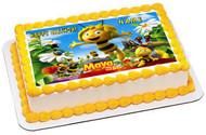 Maya the Bee Edible Birthday Cake Topper OR Cupcake Topper, Decor