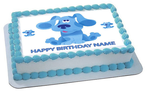 Blue S Clues Edible Birthday Cake Topper