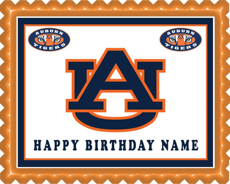 Auburn Birthday Cupcake Cake