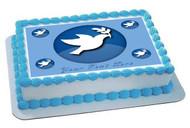 Peace Dove Edible Birthday Cake Topper OR Cupcake Topper, Decor