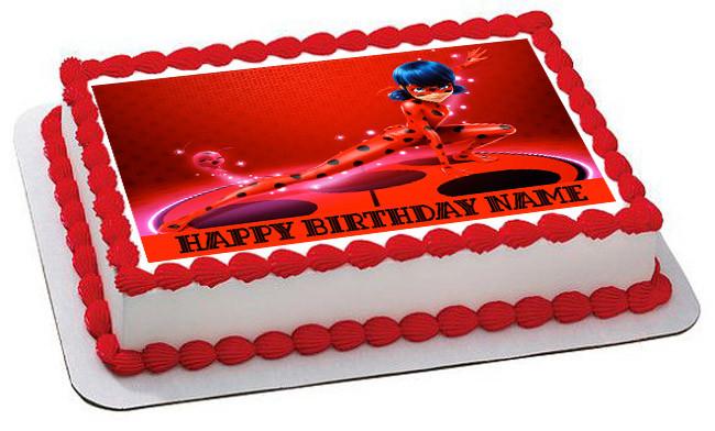 Miraculous Ladybug Cake Topper
