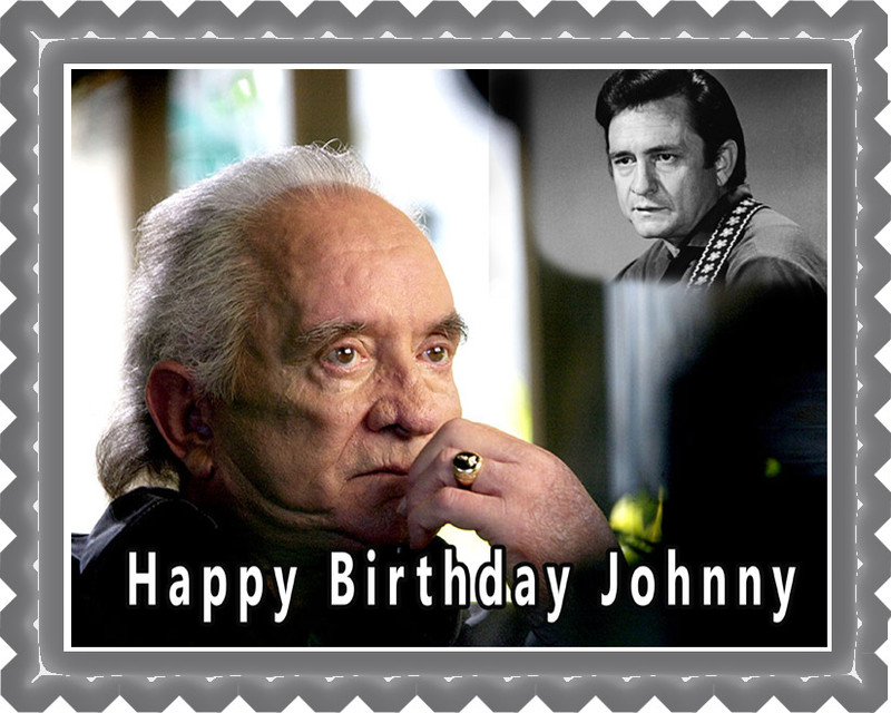 Johnny Cash 1 Edible Birthday Cake Topper