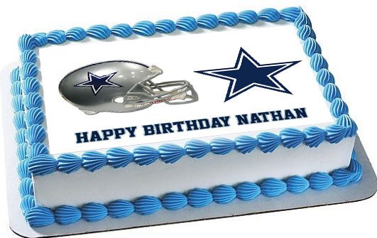 Dallas Cowboys Edible Birthday Cake Topper