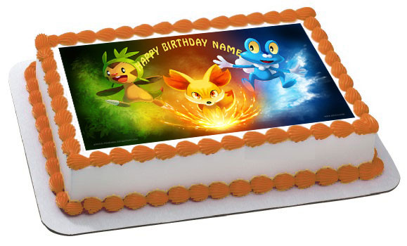 Edible Cake Images Pokemon : POKEMON 1 Edible Birthday Cake Topper
