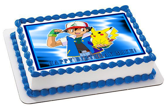 POKEMON PIKACHU Edible Birthday Cake Topper