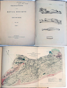 Rare Science Book: Royal Society of Edinburgh Transactions. Vol. 14, part 1. 1839.