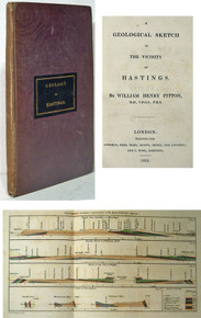 Rare Geology Book, William Henry Fitton; A Geological Sketch of the Vicinity of Hastings. 1833.