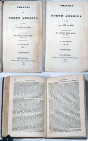 Rare Travel Book: Capt. Basil Hall, ; Travels in North America in the Years 1827 and 1828. 1829