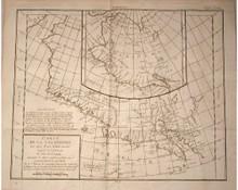 Rare map by Vaugondy, Robert de; Carte de la Californie et des Pays Nord-Ouest Separes de L'Asie par Le Detroit D'Anian...'. Diderot's Encyclopaedia , 1772.