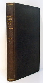 Geology Book by Owen, David Dale; Mineral lands of the United States, Report of a Geological Exploration of part of Iowa, Wisconsin and Illinois.