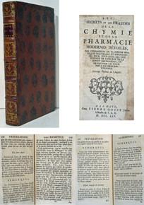 Rare chemistry book by Robert Dossie; Les Secrets et les Fraudes de la Chymie et de la Pharmacie Modernes Devoiles
