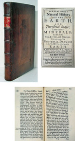 Rare Science Book, John Woodward, Essay Toward a Natural History of the Earth