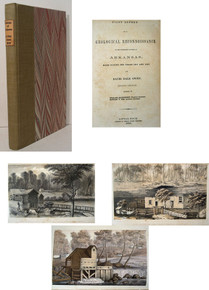 Rare Geology Book, David Dale Owen; First Report of a Geological Reconnaissance of the Northern Counties of Arkansas