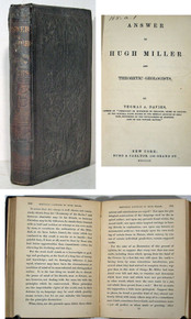 Rare Geology Book, Thomas A. Davies; Answer to Hugh Miller and Theoretic Geologists.