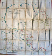 Rare map: A Map of Central America... Executed at the Office of the U. S. Coast Survey, March 1856.