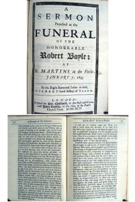Rare book: Reverend Father in God Gilbert Lord Bishop of Sarum; A Sermon Preached at the Funeral of the Honorable Robert Boyle. 1692