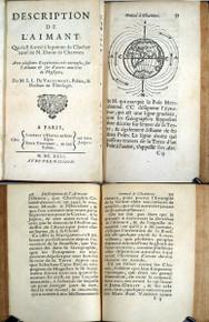 Rare Science Book: Vallemont, Abbe de Pierre De Lorrain; Description de l'aimant, qui s'est formé à la pointe du clocher neuf de N. Dame de Chartres