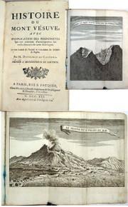 Rare geology book: Duperron De Castera, Louis Adrien; Histoire du Mont Vésuve. 1741