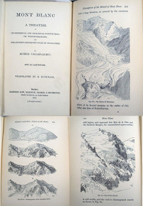 Rare geology book: Viollet-Le-Duc, Eugene Emmanuel; Mont Blanc. A Treastise on its Geodesical and Geological Constitution.