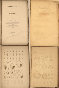 Rare Paleontology Book; Lea, Isaac; Contributions to Geology. Philadelphia, 1833. Book 525-B