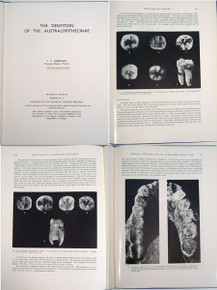 Rare Science Book for Sale: Robinson, John Talbot; The Dentition of the Australopithecinae. 1956.