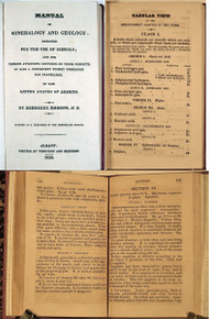 Rare Mineralogy Book: Emmons, Ebenezer; Manual of Mineralogy and Geology... Albany, Websters & Skinners, 1826.