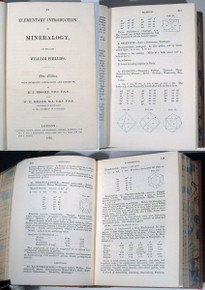 Rare Mineralogy Book: An Elementary Introduction To Mineralogy, By The Late  William Phillips.  New Edition...1852