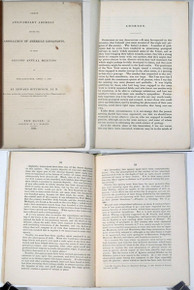 Rare Geology Book: Hitchcock, Edward; Address Delivered at the Meeting of the Association of American Geologists and Naturalists. 1841