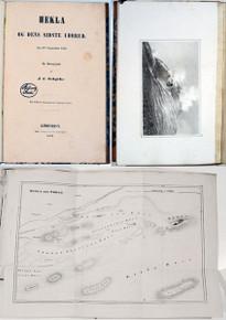 Rare Geology Book: Schythe, J.C.; Hekla og dens sidste Udbrud den 2den September 1845.  1847