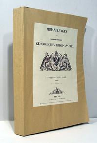 Rare Paleontology Books: Abhandlungen der K. K: Geologischen Reichsanstalt. In Drei Abtheilungen. II. Band. 1855