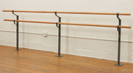 Double Floor Mounted Ballet Bar