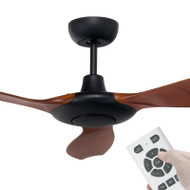 Brilliant Concorde DC Motor 152cm Black/Mahogany & Remote Ceiling Fan