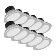 DISCOUNT PACK OF 10 Mercator Retina 10w 3000K LED Down Light Silver