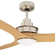 Mercator Flinders 140cm Brushed Chrome Ceiling Fan & LED Light